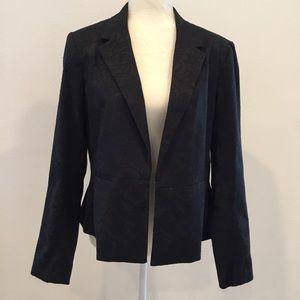 APT 9 Black Lace Print Blazer Size 16
